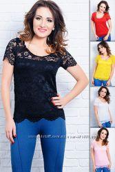 Летняя гипюровая блузка Кристина