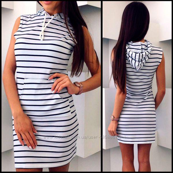 Полосатое спортивное платье Darina код 150