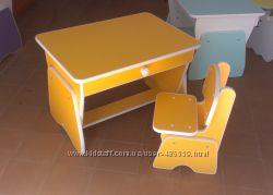 Детские  столики столики и стульчики с регулировкой высоты.