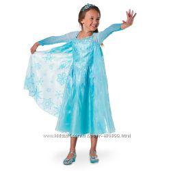 Шикарное платье Эльзы на рост 125-135см, 135-145см, 145-155см. Disneystore.