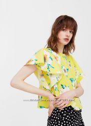Укорочённая блуза топ MANGO
