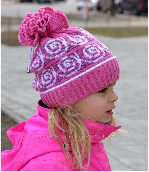 Шапка для девочки осень- зима 3-6 лет.