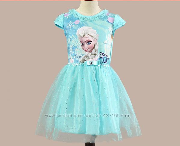 В наличии Нарядное платье Эльзы на 1, 2, 3 лет