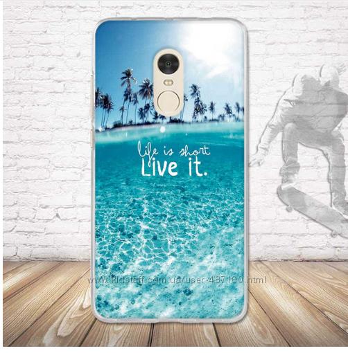 Чехол новый силиконовый для смартфона Xiaomi Redmi Note4  Пересылаю