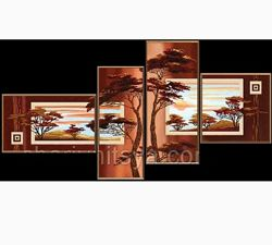 Картина вышита бисером полиптих