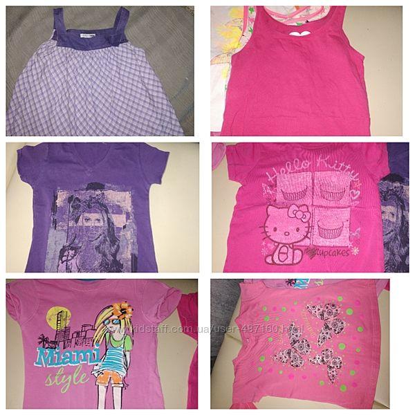 Майка футболка летняя девочке 6-7 лет