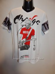 Мужская молодежная футболка с принтом Enos jeans р. 50, 52