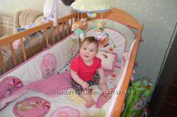 Комплект в кроватку Arya, постель, бампер