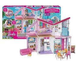 Домик для кукол Барби Дом Малибу, 6 комнат, 25 аксессуаров