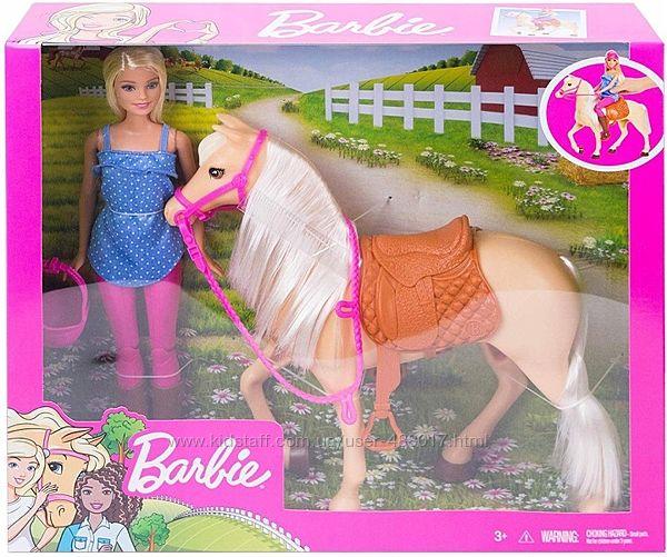 FXH13 Mattel Barbie Барби и лошадь. В наличии