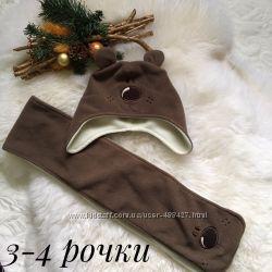 Комплект шапочка і шарф 3-4 р