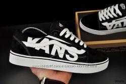 Мужские кеды Vans blackwhite, ТОП качество