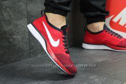 Кроссовки мужские сетка Nike Flyknit Racer red