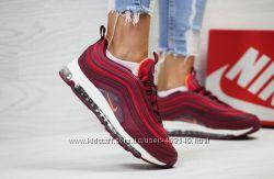 Кроссовки женские Nike Air Max 97 burgundy