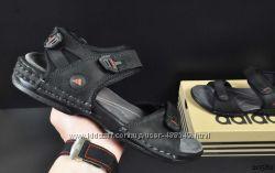 Сандалии мужские кожанные Adidas black