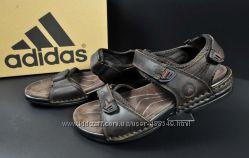 Сандалии мужские кожанные Adidas brown