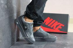 Кроссовки мужские Nike Air Force 1 серые 8189