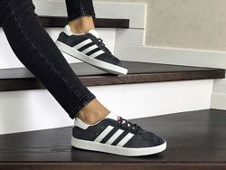 Кроссовки женские Adidas Gazelle серые 8499