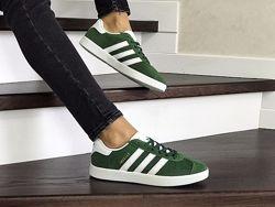 Кроссовки женские Adidas Gazelle зеленые 8497