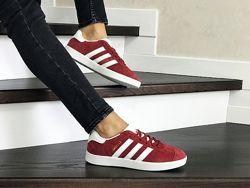 Кроссовки женские Adidas Gazelle красные 8495