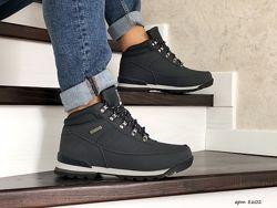 Зимние мужские ботинки Timberland темно синие 8602