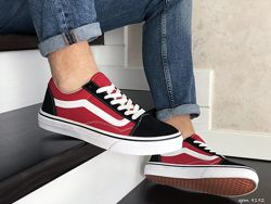 Кеды мужские Vans Old Skool,  черные с красным