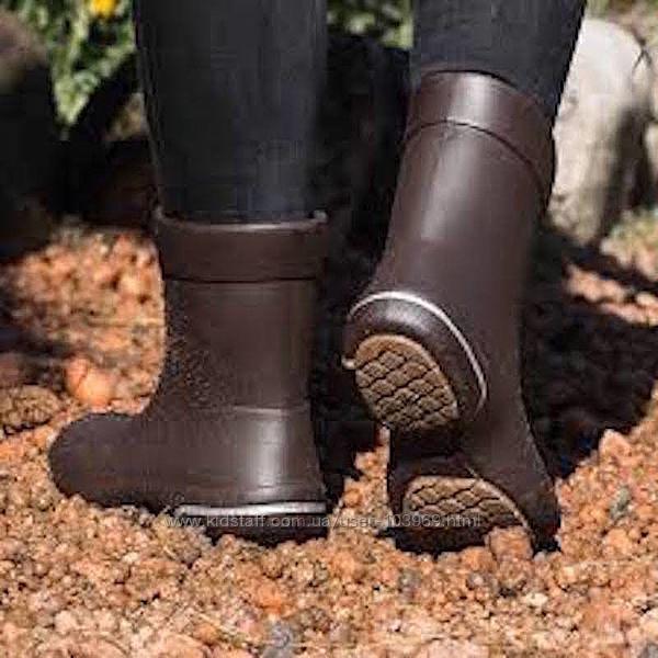 Резиновые сапоги Nordman Kleo с флисовым утеплителем коричневые