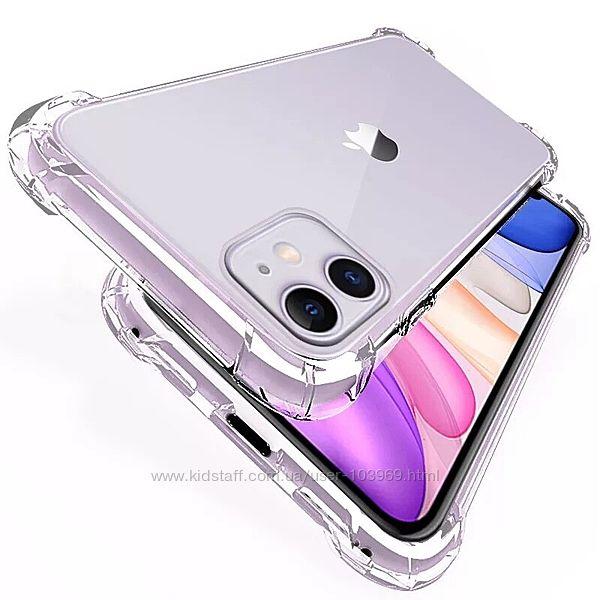 Противоударный силиконовый чехол для телефона iPhone