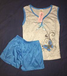 Пижама женская, комплект домашний, р. 42