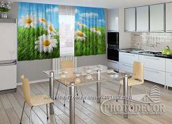 3D- Фото шторы для кухни