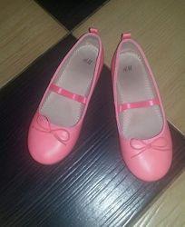 Балетки коралловые H&M для девочки