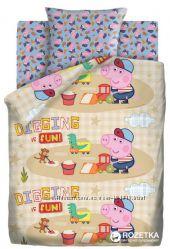 Полуторное постельное белье Свинка Пеппа. В наличии большой выбор.