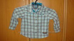 Брендовые хлопковые рубашки для мальчика 1-2 лет, состояния новых