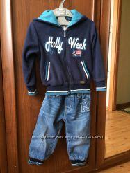 Теплый костюм, комплект, кофта, штаны, гольф мальчику 1-1, 5