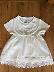 Новое хлопковое платье, туника,  на 18-24 месяца