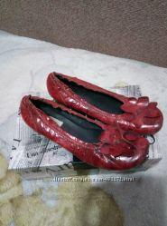 Кожаные туфли-балетки 39 размер
