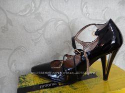 Туфли лак черные Antonio Biaggi, натур, кожа, 26 см по стельке
