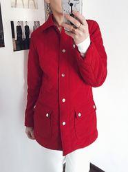 Красная стёганая куртка с накладными карманами Calvin Klein