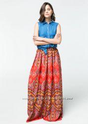 очень красивая яркая макси юбка от Mango