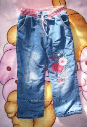 Утепленные джинсы на 5 лет