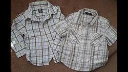 Рубашки в клетку на мальчика на 2-3 года с коротким и длинным рукавом