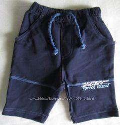 фирменные шорты бриджи Baby club C&A размер 68 и 74 мальчику синие хлопок