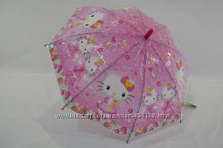 Детский зонт трость для девочек с HelloKitty на 4-8 лет от фирмы Paolo