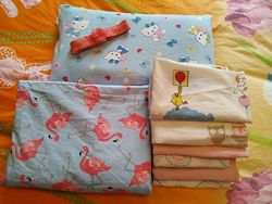 Постельное бельё фламинго подушка пелёнки