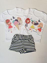 Костюмчики с шортами лето разные и сарафаны