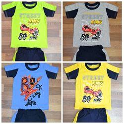 Летние костюмы для мальчика футболка плюс шорты