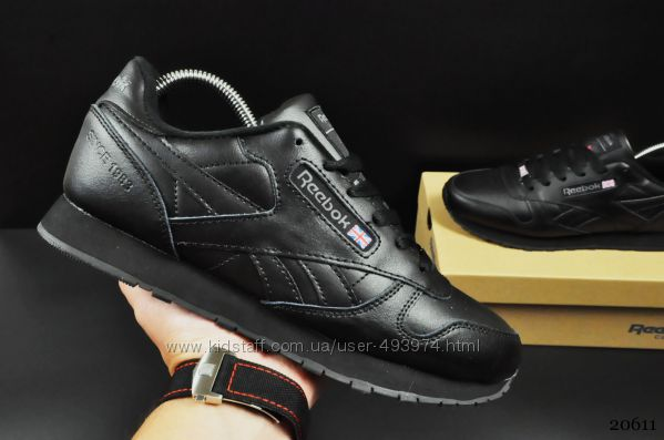 кроссовки Reebok Classic арт 20611 мужские, черные, рибок