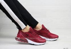 кроссовки Nike Air Max 270 женские, бордовые, найк