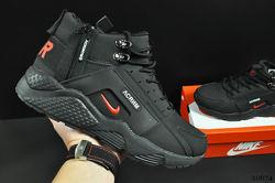 ботинки Nike Air Huarache арт 20674 зимние, мужские, черные