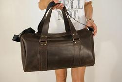 Кожаная дорожная сумка. Большой выбор цвета кожи.